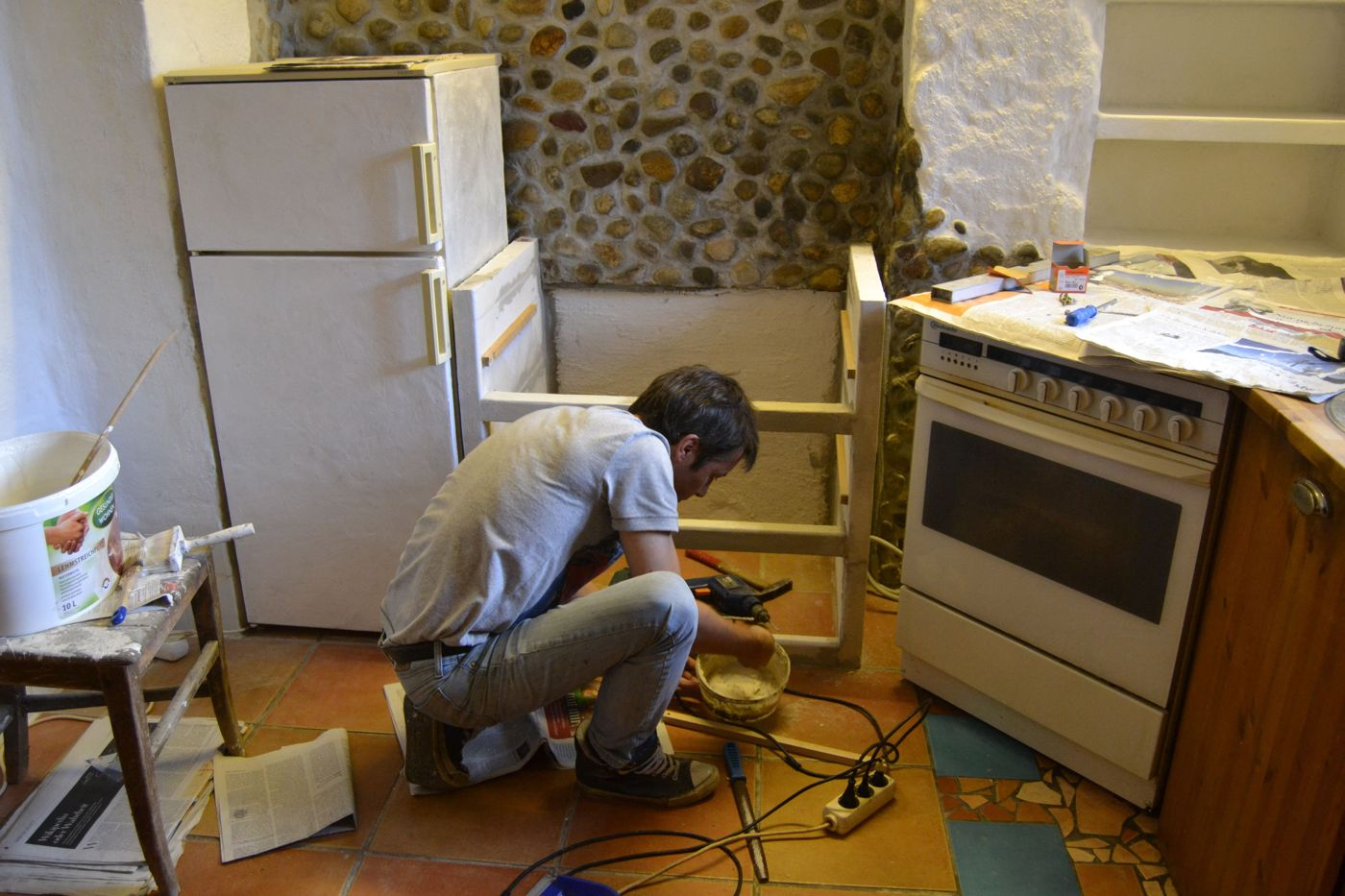 Küche Aus Ytong Steinen Selber Bauen. Katalanische Küche Wohn Ess ...